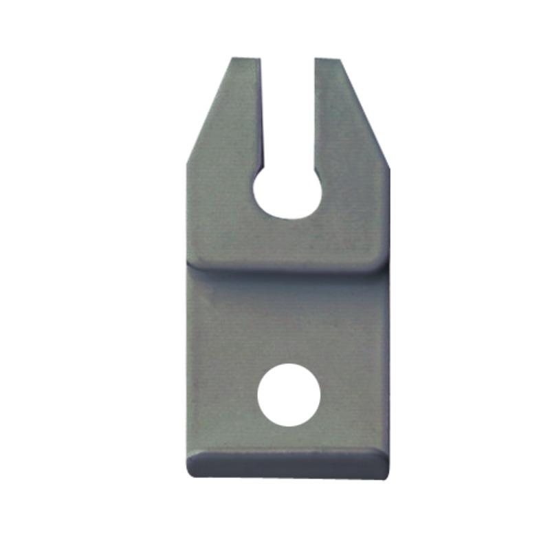 KS-DS plafondsteun met sleuf grijs