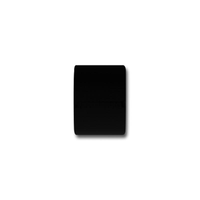 RR Einddop Basic voor 35mm rail-/ Roede Zwart
