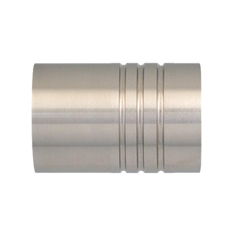 RR Einddop Cilinder voor 28mm rail-/ Roede RVS