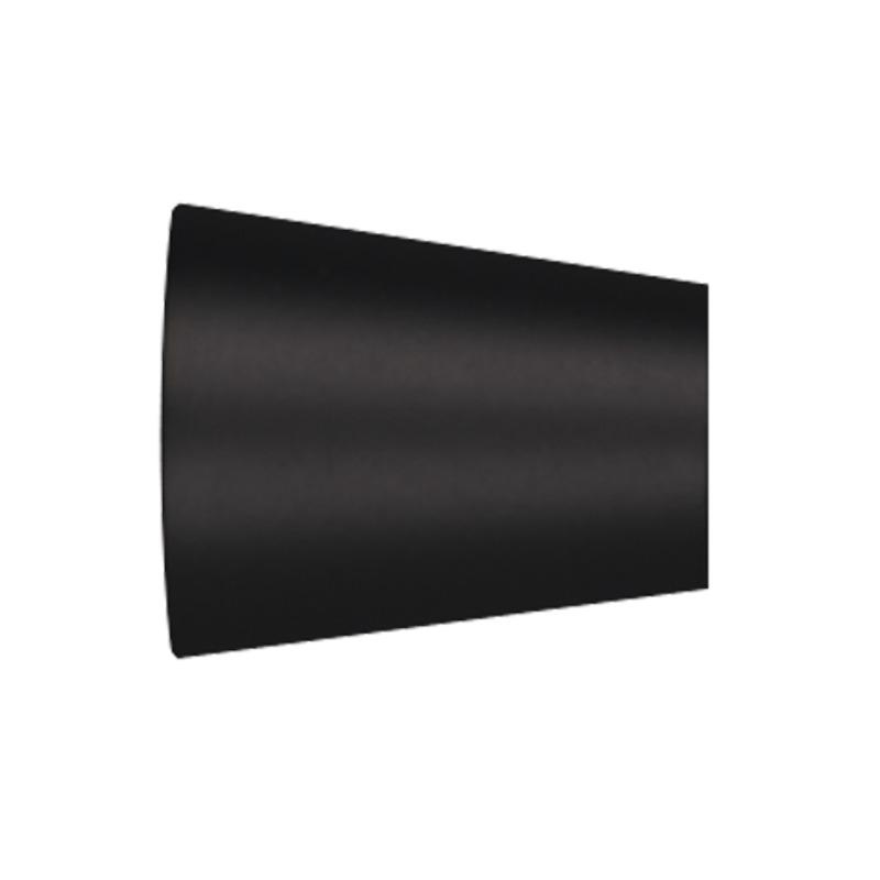 RR Einddop Kegel voor 28mm rail-/ Roede Zwart