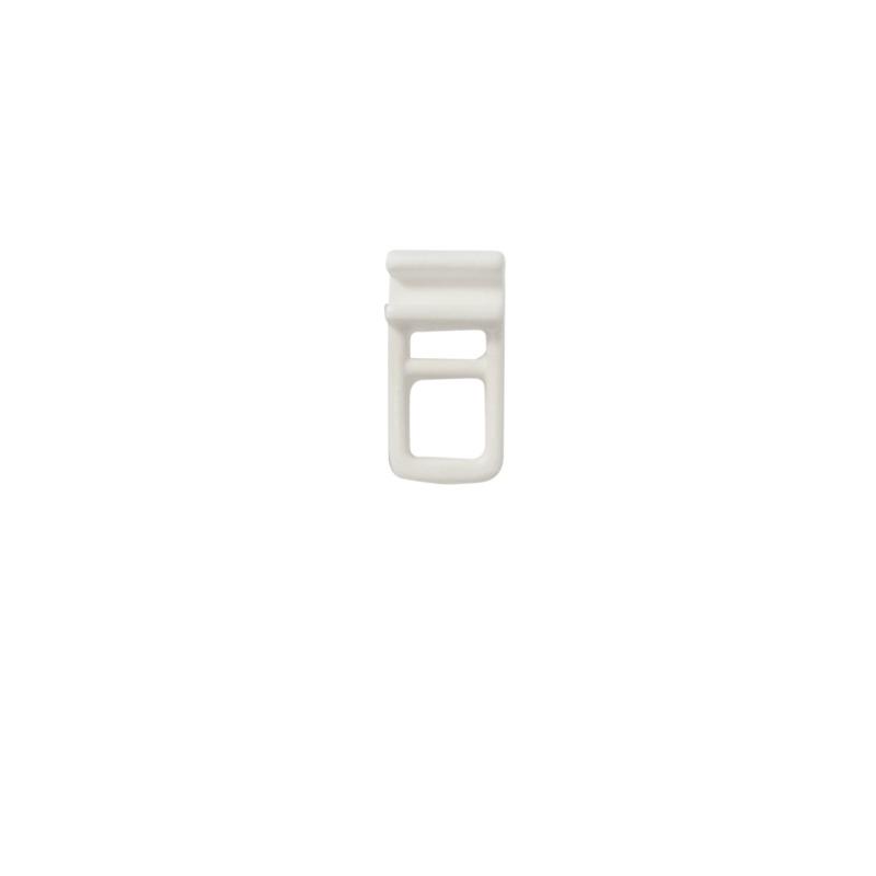 RR symmetrische glijder breedspoor op strip wit