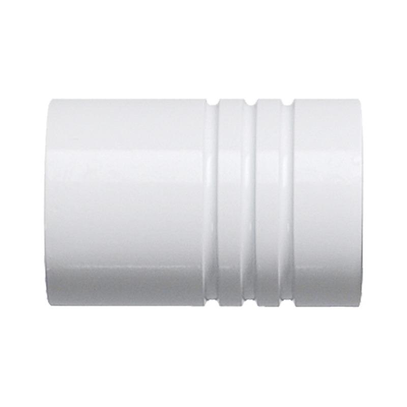 RR Einddop Cilinder voor 28mm rail-/ Roede Wit